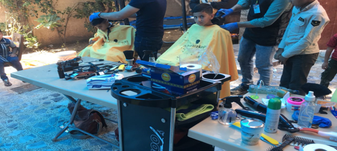 EADE Organization in coordination with Nabeel Institute for hair cutting held a hair-cutting activity in its C/Y FS center