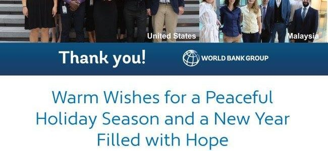 Appreciatation letter from World Bank