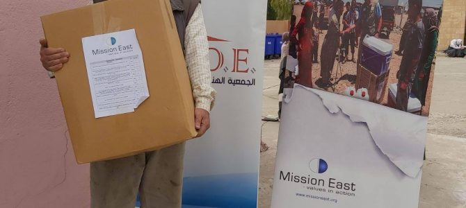 distributed 2000 food baskets to vulnerable families in West Mosul