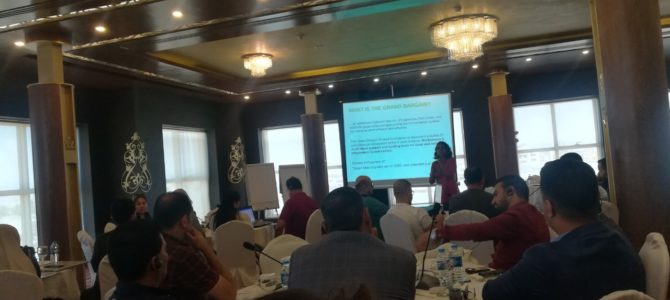 EADE representative attending a three days localization workshop held by Oxfam