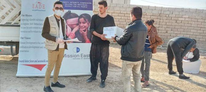 EADE, distributed 225 hygiene kits at Tal afar neighborhoods (Al-Taleaa and Al-Montadet) and Abo Maria, Alrahma and Alasheq villages